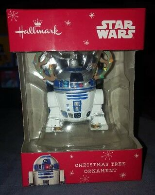 Star Wars R2D2 with Antlers Hallmark 2015 Christmas Tree Ornament NIB