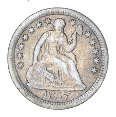 5c *1/2 Dime HALF* 1857-O Seated Liberty Half Dime Early American Type Coin *857