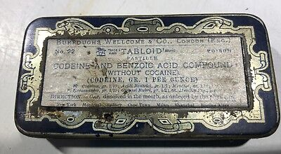 Antique Drug Store Pharmacy Apothecary Codeine Benzoic Acid Without Cocaine 1906
