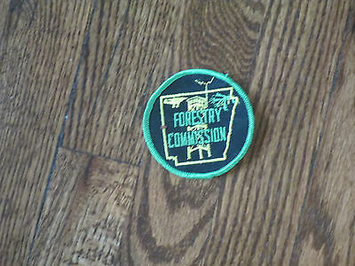 arkansas, FORESTRY commission patch,new old stock,70's