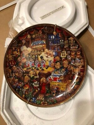 Pepsi PepsiCo Pepsi-Cola 5 Plates By Bill Bell Franklin Mint Collectible