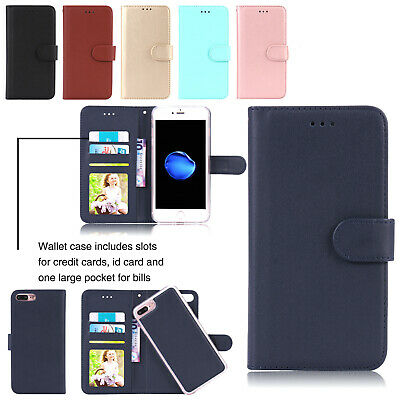 Removable Magnetic Leather Card Wallet Case Cover For iPhone XS Max 7 8 Plus 6s