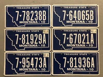 One Montana Treasure State License Plate Random Letters/numbers Free Shipping!!!
