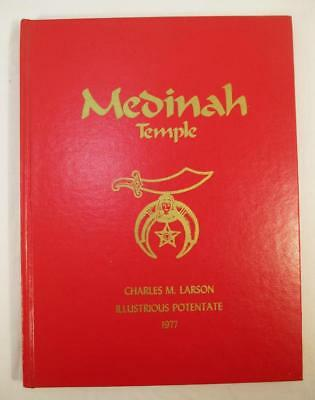 1977 Medinah Temple Pictorial History Book Vintage Chicago Shriners