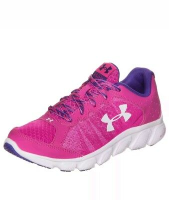 UNDER ARMOUR UA MICRO G ASSERT 6 SNEAKERS RUNNING ATHLETIC SHOES 5.5y PINK