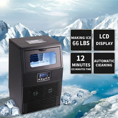 Built-In Stainless Steel Commercial Ice Maker Ice Machine Portable Restaurant