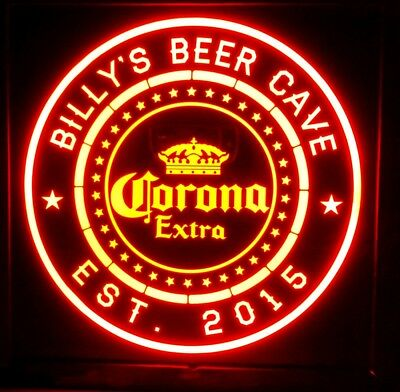 Custom Personalized Corona Extra 12 x 12 Multi color LED Sign box with remote