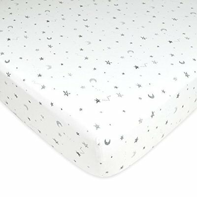American Baby Company Printed 100% Cotton Jersey Knit Fitted Crib Sheet for Crib