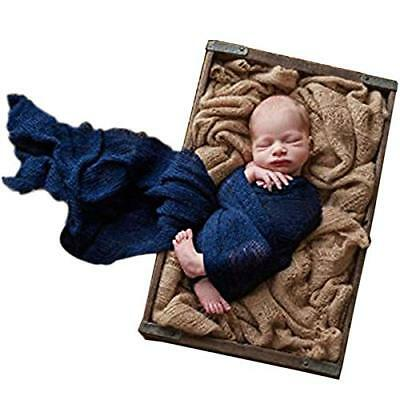 Sunmig Newborn Baby Stretch Wrap Photo Props Wrap-Baby Photography Props Navy