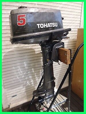 5hp TOHATSU OUTBOARD MOTOR SHORT SHAFT RUNS FINE NO RESERVE Grab a bargain today