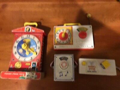 Lot of 4 Vintage Fisher Price Toys - All Good Working Condition