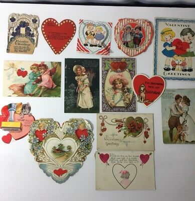 Antique Valentine Post Cards And Regular Early 1900s