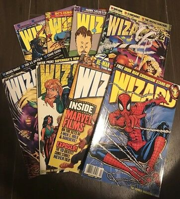 Lot Of 8 Wizard Comic Book Price Guides 90's