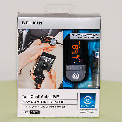 Belkin TuneCast Auto Live, GPS-Assisted App for Apple iPhone/iPod