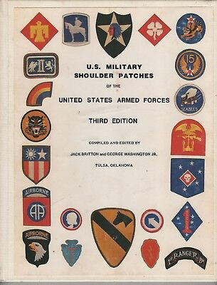 US MILITARY SHOULDER PATCHES of the US ARMED FORCES 3rd EDITION-HARD COVER