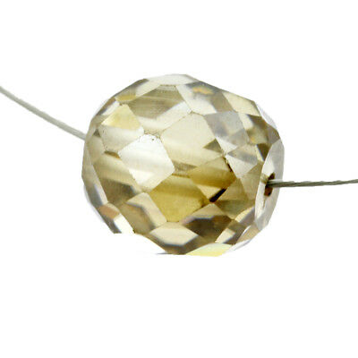 Certified Champagne Faceted Diamond Loose Bead for Jewelry Making-5.10 Ct-8.50MM