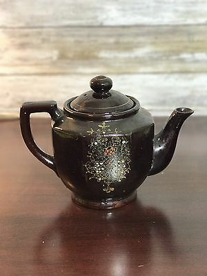 Vtg Old Japan Japanese Brown Orange Gold Cloisonne Teapot Tea Pot Coffee
