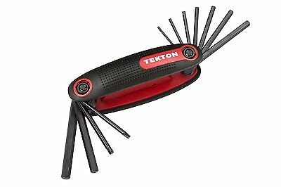 TEKTON 2520 Folding Hex and Star Key Wrench Clip, 11-Piece