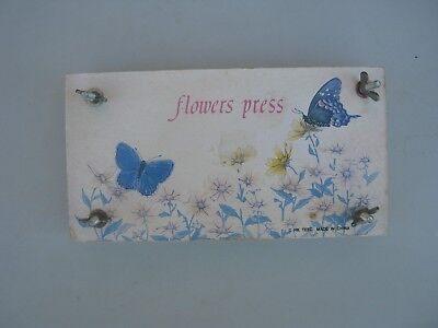 vintage wooden flower press craft item for dried flowers leaves rare item 20x10