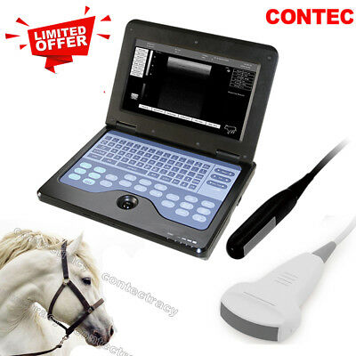 Veterinary VET Portable ultrasound scanner Laptop machine+rectal,convex Animal