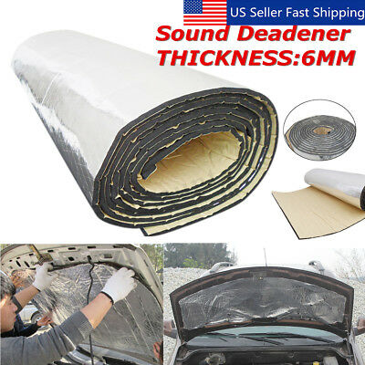 157''x39'' 6mm Sound Deadener Car Heat Shield Insulation Deadening Material Mat