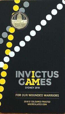2018 $1 Invictus Games frosted coin
