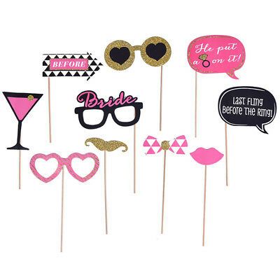 Bachelor Party Photo Booth Props Wedding Decor to be Bride Bridegroom 10pcs/Set