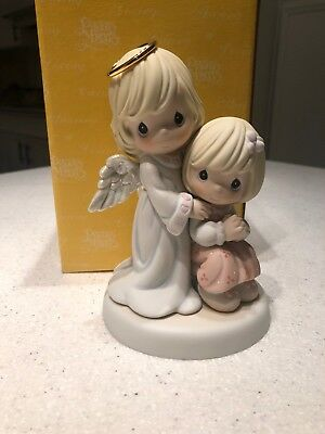 Precious Moments Always By Your Side 550022 RARE Guardian Angel Girl Figurine
