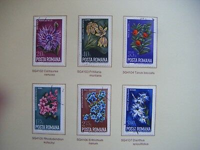 Set of 6 Flower stamps.POSTA ROMANA.RUMANIA.Issued 1974