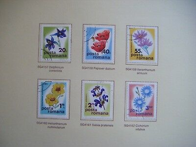 Set of 6 Flower stamps.POSTA ROMANA.RUMANIA.Issued 1975