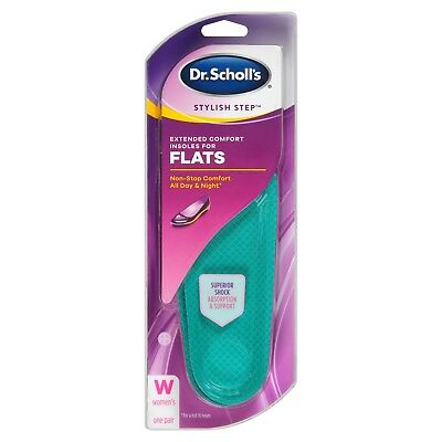 Dr. Scholl's Stylish Step Extended Comfort Insoles For Flats - Women Size (6-10)