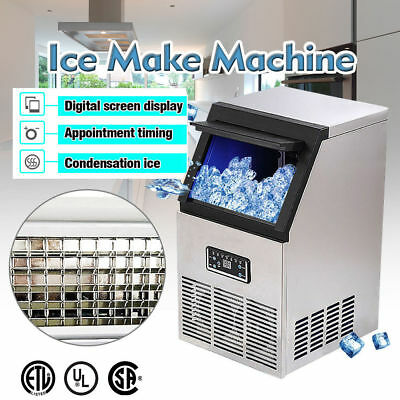 US 100LB / 24HR Built-In Commercial Ice Maker Undercounter Freestand Ice Machine