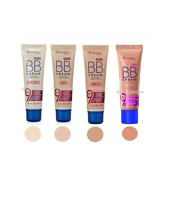New Rimmel BB Cream 9 in 1 Skin Perfecting Make Up 30ml SPF15 -Choose shades