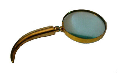 Vintage Style Brass MAGNIFYING Glass – LARGE - Elephant Teeth Type