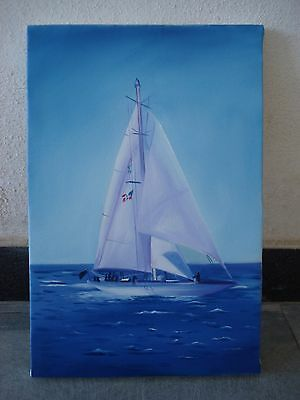 Hand Made OIL Painting on Canvas - Marine / Nautical / Boat / Maritime (1045)