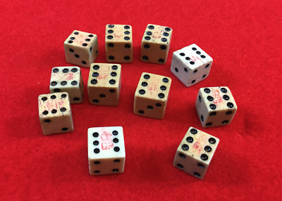 1765 Stamp Act Dice with British Crown Tax Mark in Glass Display Case with COA