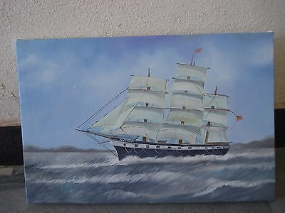 Hand Made OIL Painting on Canvas - Marine / Nautical / Boat / Maritime (1044)