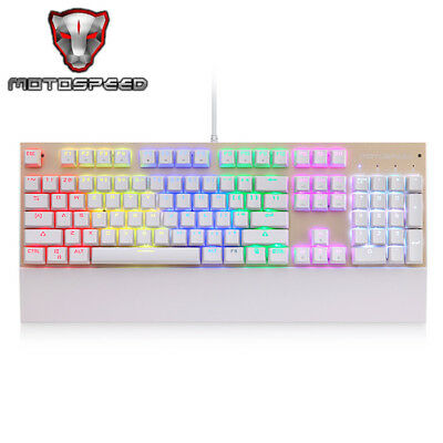 Portable Motospeed CK108 USB Wired Gaming Keyboard +18 Backlight Mode for PC New