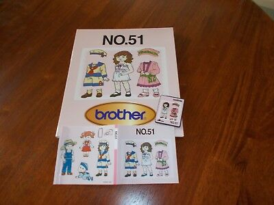 Brother Paper Doll Machine Embroidery Card No.51