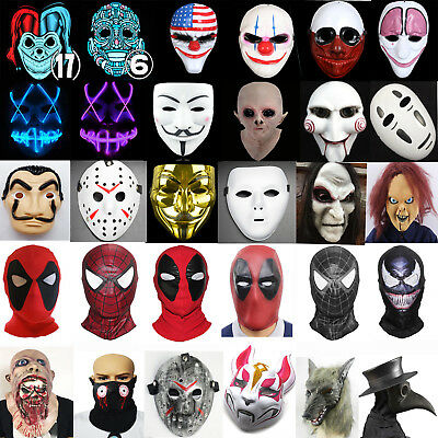 Halloween Horror Scary Mask Cosplay Masquerade Fancy Dress Costume Carnival Prop