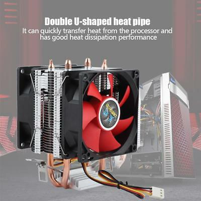 Dual Fan CPU Cooler Heatsink For Intel LGA1155/1156/1366/775/ AMD AM2/AM2+/AM3