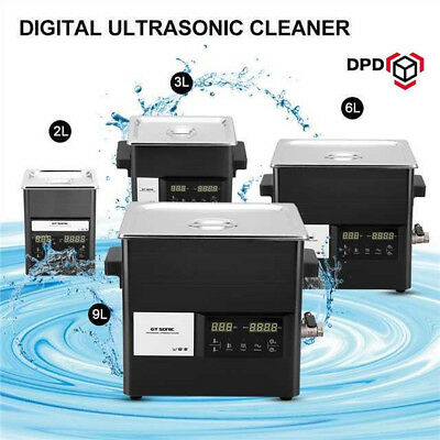 9L Digital Ultrasonic Cleaner Stainless Ultra Sonic Bath Cleaner Tank Heater UK