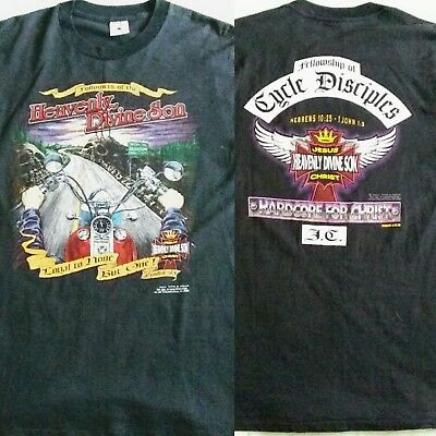 VTG Harley Davidson Followers Of The Heavenly Divine Son Road To Salvation Shirt