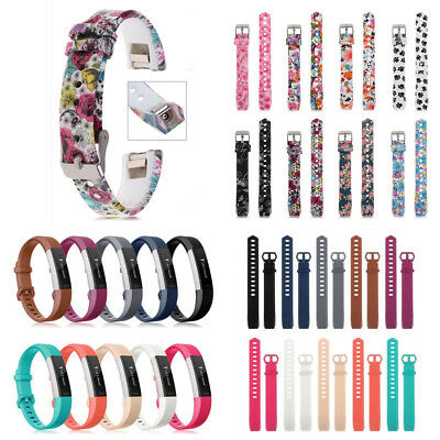 Replacement Silicone Wristband Buckle Watch Band Strap For Fitbit Alta HR