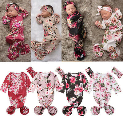 AU Cute Mermaid Baby Snuggle Blanket Newborn Flower Sleeping Bag Swaddle WrapSet