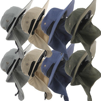 AU Outdoor Unisex Brim SunBlock Quick Drying Fishing Sun Cap Climbing Bucket Hat
