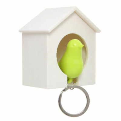 lovely bird in wooden house Keyfob Car Keyring Keychain Key Chain Ring Gift NEW