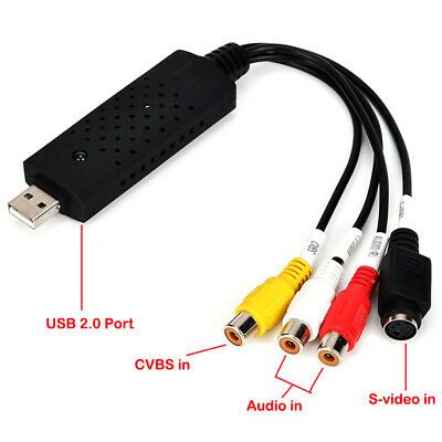 USB VIDEO AUDIO CAPTURE ADAPTER VHS TO DVD HDD TV CARD User Manual CD-ROM