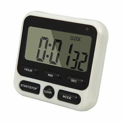 Large LCD Digital Kitchen Timer Countdown Up Alarm Clock 24 Hours Magnetic HX106