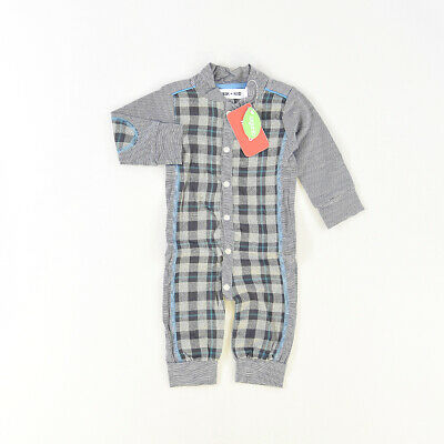 Pelele color Gris marca Kik Kid 3 Meses